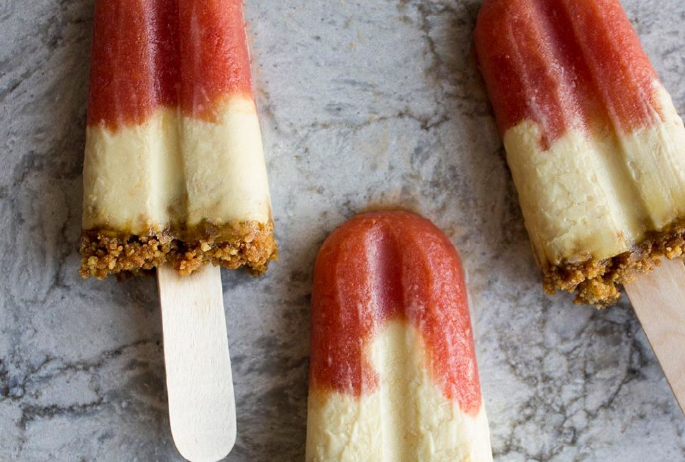Nectarine, Maple and Yoghurt Popsicles