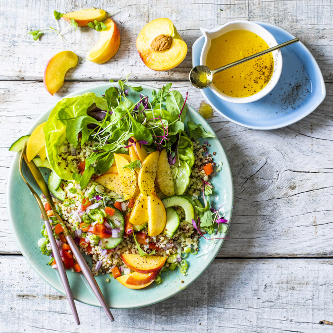 Peach and Bulgar Wheat Salad