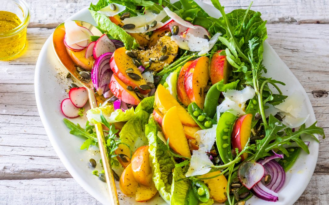 Peach and Parmesan Summer Salad